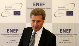 """My aim is to make sure that energy remains affordable for households and companies,"" says Gunther Oettinger, energy commissioner for the European Commission. Leaders in the European Union are revamping their approach to climate change because higher energy costs have not sit well with consumers in a struggling economy. (Associated Press)"