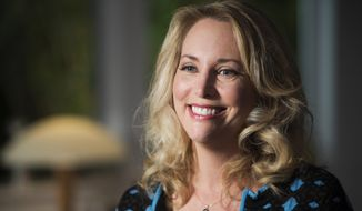 "In this undated photo provided by PBS, former United States CIA Operations Officer, Valerie Plame, who is also known by her married name, Valerie Wilson, is interviewed on the set of ""Makers: Women Who Make America,"" filmed in Venice, Calif. Plame left the CIA after her covert identity was compromised by information leaked to a newspaper columnist in 2003. (AP Photo/PBS, Nancy Pastor) ** FILE **"