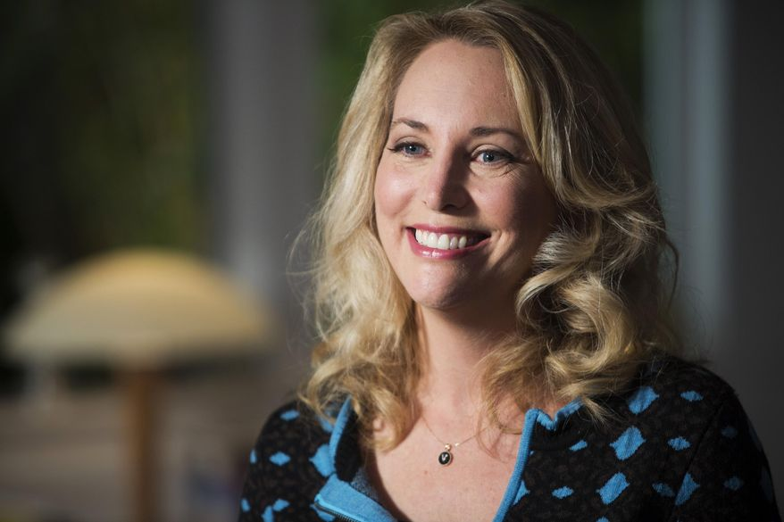 """In this undated photo provided by PBS, former United States CIA Operations Officer, Valerie Plame, who is also known by her married name, Valerie Wilson, is interviewed on the set of """"Makers: Women Who Make America,"""" filmed in Venice, Calif. Plame left the CIA after her covert identity was compromised by information leaked to a newspaper columnist in 2003. (AP Photo/PBS, Nancy Pastor) ** FILE **"""