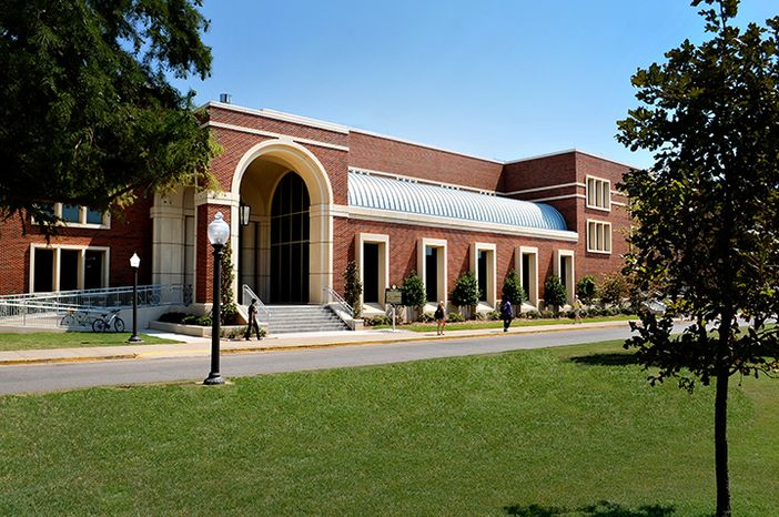 View of the University of Oklahoma's Gould Hall. (University of Oklahoma)