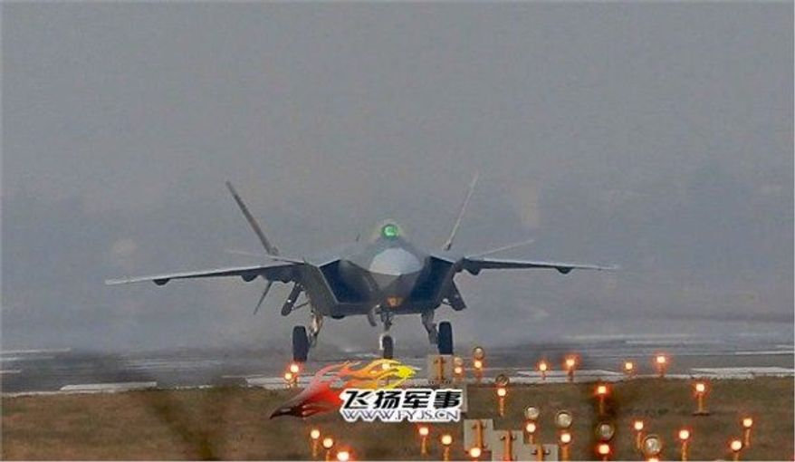 The J-20's key features resemble those of the top-of-the-line U.S. F-22 Raptor and new F-35 Lightning