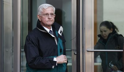 Gerrit Keats leaves a federal courthouse following his sentencing in Denver, Thursday Jan. 23, 2014. A judged on Thursday ordered Keats, of Clearwater, Fla., to serve three years' probation and complete 540 hours of community service for sending U.S. Anti-Doping Agency (USADA) CEO Travis Tygart a threatening email, after the USADA stripped Lance Armstrong of his Tour de France titles. (AP Photo/Brennan Linsley)
