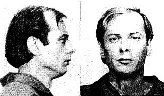 This 1982 photo provided by the FBI that appeared on a flier in 1991 shows Dennis Lilly, whose remains have possibly been found in the Gold Bar, Wash., backyard of his wife. He slipped out of a Missouri prison while posing as a guard nearly 30 years ago. (AP Photo/FBI)