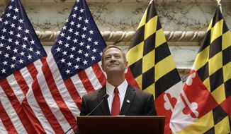 Maryland Gov. Martin O'Malley delivers his annual State of the State address to a joint session of the legislature in Annapolis, Md., Thursday, Jan. 23, 2014. The term-limited governor used his final address to urge lawmakers to raise the state's minimum wage. (AP Photo/Patrick Semansky)