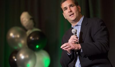 Chicago White Sox general manager Rick Hahn speaks during the baseball team's SoxFest annual fan convention, Friday, Jan. 24, 2014, in Chicago. (AP Photo/Andrew A. Nelles)