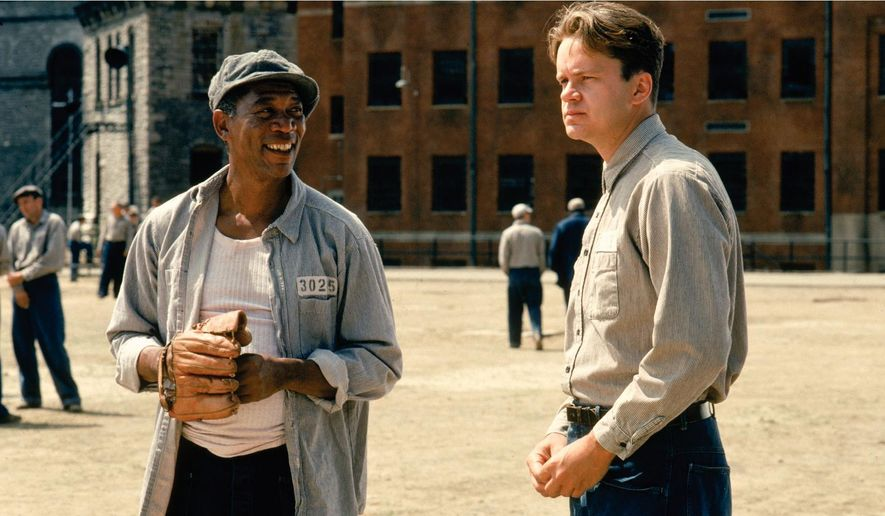"Actors Morgan Freeman and Tim Robbins in the iconic prison movie ""Shawshank Redemption."" The film was released in  1994 and distributed by Columbia Pictures. (Image: Castle Rock Entertainment) ** FILE **"