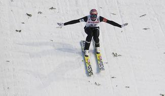 Norway's winner Anders Bardal lands during the ski jumping World Cup in Zakopane, Poland, Sunday, Jan. 19, 2014. (AP Photo/Czarek Sokolowski)