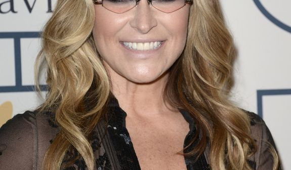 Anastacia arrives at the 56th annual GRAMMY awards - salute to industry icons with Clive Davis, on Saturday, Jan. 25, 2014, in Beverly Hills, Calif. (Photo by Dan Steinberg/Invision/AP)