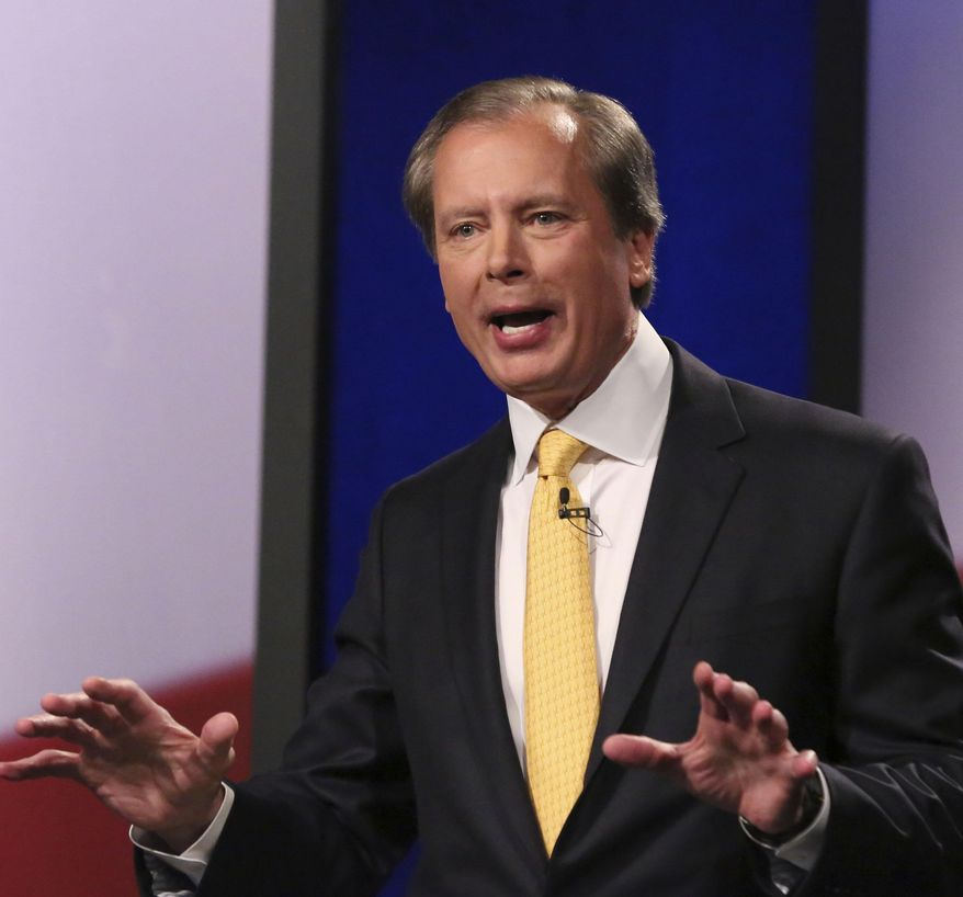 Republican Texas lieutenant governor candidate Lt. Gov. David Dewhurst speaks during a debate at KERA studios in Dallas, Monday, Jan. 27, 2014.  The four Republican candidates are vying to be Texas lieutenant governor, a post considered to be the most powerful in the state. (AP Photo/LM Otero,Pool)