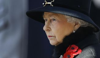FILE - This  is a Sunday, Nov. 10, 2013 file photo of Britain's Queen Elizabeth II as she listens during the service of remembrance at the Cenotaph in Whitehall, London. A monarch's life is not all luxury and glamour. A report by British lawmakers into the finances of Queen Elizabeth II has exposed crumbling palaces and depleted coffers, and discovered that a royal reserve fund for emergencies is down to its last million pounds ($1.6 million). In the Tuesday Jan. 28, 2014, report the legislators urged royal officials to adopt a more commercial approach to making money, and suggested opening up Buckingham Palace to visitors more often. (AP Photo/Kirsty Wigglesworth)