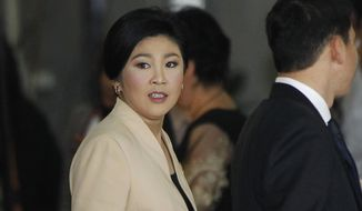"""Former Thai Prime Minister Yingluck Shinawatra could be imprisoned for 10 years for """"negligence"""" when the Supreme Court renders its verdict next week. (Associated Press/File)"""