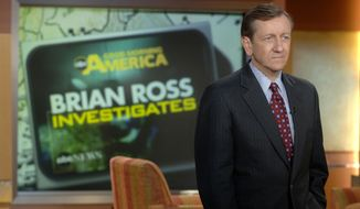 "**FILE** Investigative reporter Brian Ross is seen here on the set of ABC's ""Good Morning America"" in New York in 2006. (Associated Press/ABC)"