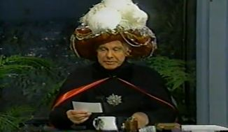 The late Johnny Carson as Carnac the Magnificent. (Image: YouTube)