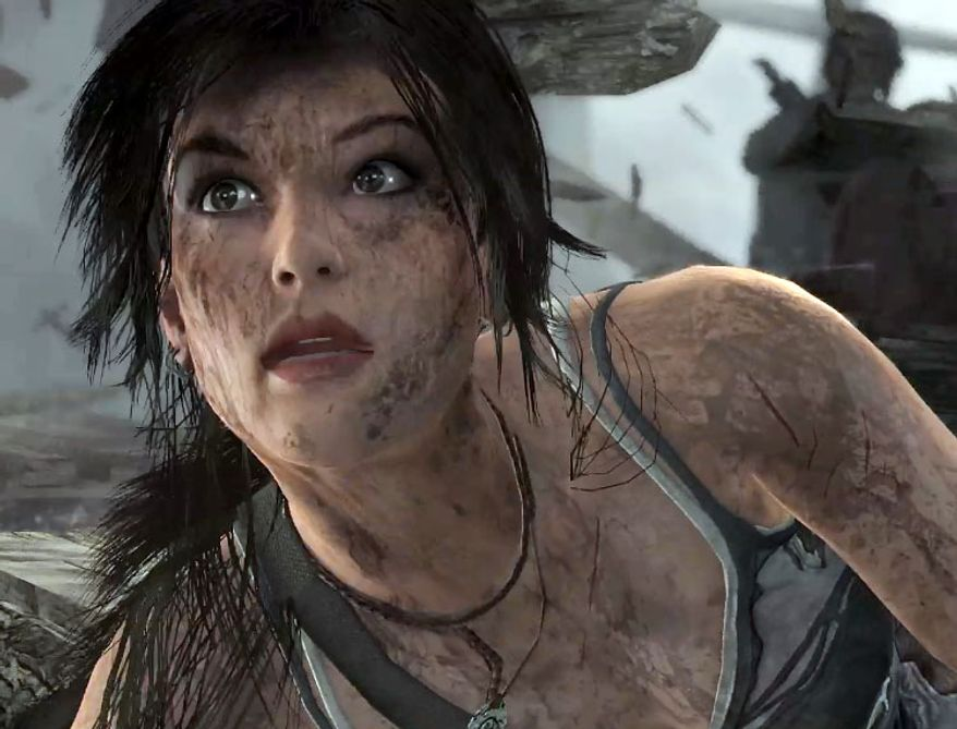 Lara Croft is looking much worse for wear, with help from the PS4's processing power, in the video game Tomb Raider: Definitive Edition.