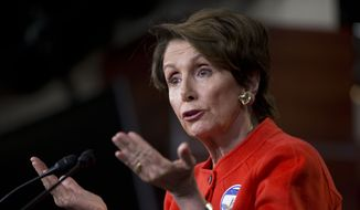 House Minority Leader Nancy Pelosi of Calif. meets with reporters on Capitol Hill in Washington, Wednesday, Jan. 29, 2014, the day after President Barack Obama's State of the Union address. (AP Photo/Pablo Martinez Monsivais)