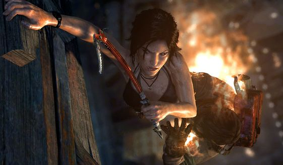 Lara Croft hangs on for her life in the chillingly realistic video game Tomb Raider: Definitive Edition.