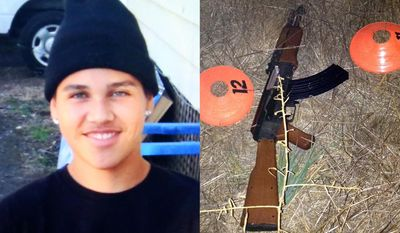 FILE - In this combination of file photos provided by the family via The Press Democrat and the Sonoma County Sheriff's Department shows an undated photo of 13-year-old Andy Lopez and the replica assault rifle he was holding when he was shot and killed by two Sonoma County deputies in Santa Rosa, Calif. on Tuesday, Oct. 22, 2013. Investigators have given a Northern California prosecutor their final report on a sheriff deputy fatally shooting a 13-year-old boy carrying a toy rifle. Now it's up to Sonoma County District Attorney Jill Ravitch to decide whether criminal charges are warranted. Ravitch said Wednesday Jan. 29, 2014 that it may be months before she decides. (AP Photo/Family via The Press Democrat, Sonoma County Sheriff's Department, File)