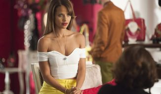 "This image released by VH1 shows Denise Vasi  from the series ""Single Ladies,"" airing Mondays at 9p.m. EST. The hour-long series about three very fashionable women who are best friends dealing with the trials of dating and relationships. (AP Photo/VH1, Annette Brown)"