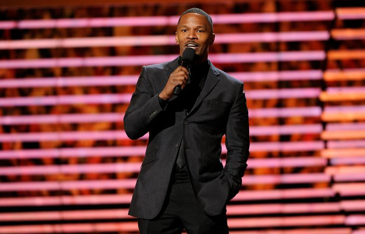 Actor Jamie Foxx speaks on stage at the third annual NFL Honors at Radio City Music Hall on Saturday, Feb. 1, 2014, in New York. (Photo by Evan Agostini/Invision for NFL/AP Images)