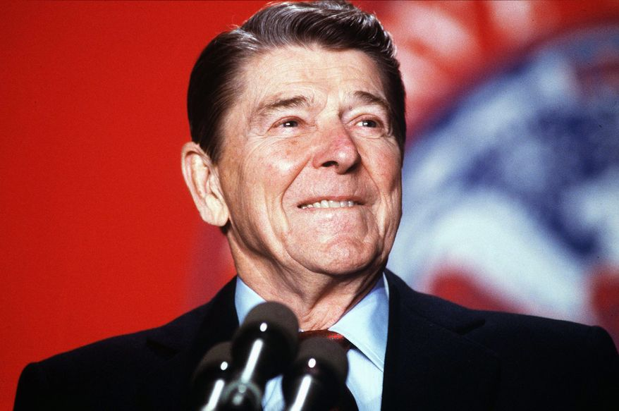 President Ronald Reagan appeared hip in the sense that he was of good cheer, canny and young at heart, minus annoying attitude. (THE WASHINGTON TIMES)