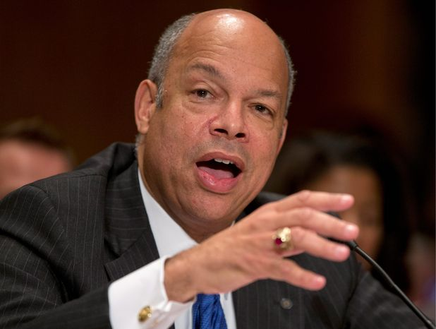 """Homeland Security Secretary Jeh Johnson """"was impressed with Mr. Marrone's integrity and management abilities"""" while serving together at the Department of Defense, a DHS spokesman said."""
