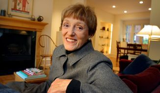 "In this Oct. 30, 2002 photo, Joan Mondale poses for a photo at her home in Minneapolis. Mondale, who burnished a reputation as ""Joan of Art"" for her passionate advocacy for the arts while her husband was vice president and a U.S. ambassador, died Monday, Feb. 3, 2014. She was 83. (AP Photo/The Star Tribune, Brian Peterson)  MANDATORY CREDIT; ST. PAUL PIONEER PRESS OUT; MAGS OUT; TWIN CITIES TV OUT"
