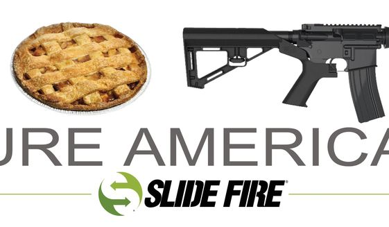 "Slide Fire's ""Pure American"" billboard ad."