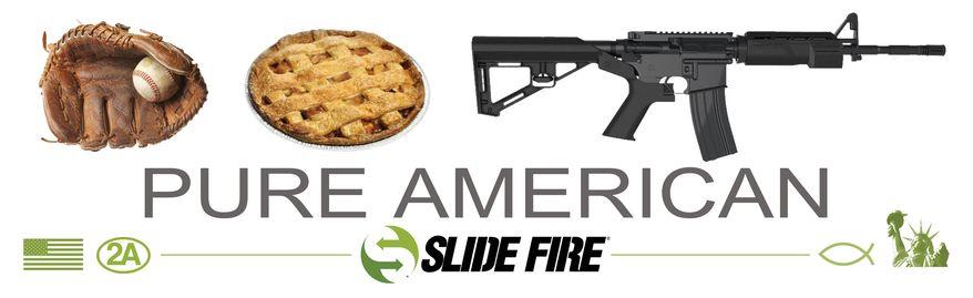 """Slide Fire's """"Pure American"""" billboard ad."""