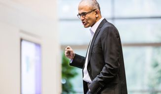 ** FILE ** This undated photo provided by Microsoft shows Satya Nadella. Microsoft announced Tuesday, Feb. 4, 2014, that Nadella will replace Steve Ballmer as its new CEO.  Nadella will become only the third leader in the software giant's 38-year history, after founder Bill Gates and Ballmer. Board member John Thompson will serve as Microsoft's new chairman.  (AP Photo/Microsoft)