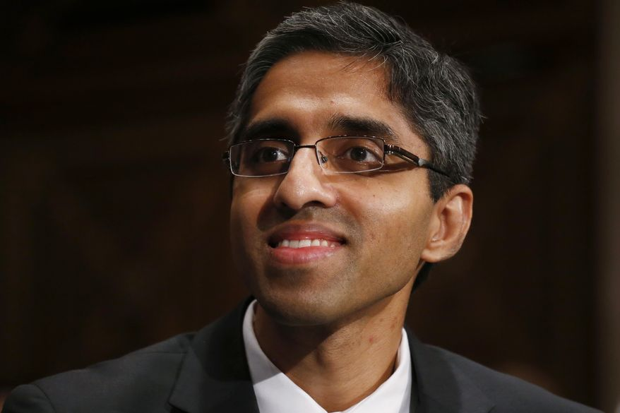Dr. Vivek Hallegere Murthy, President Barack Obama's nominee to be the next U.S. Surgeon General, listens on Capitol Hill in Washington, Tuesday, Feb. 4, 2014, during his confirmation hearing before the Senate Health, Education, Labor, and Pensions (HELP) Committee.  (AP Photo/Charles Dharapak)