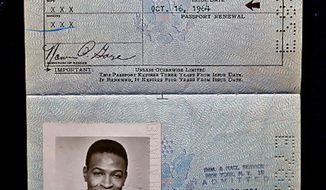 This photo shows Motown singer Marvin Gaye's 1964 passport, which was featured on an episode of 'Antiques Roadshow' on Feb. 3, 2014. (PBS)