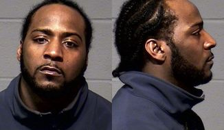 This Wednesday, Feb. 5, 2014 booking photo released by the Hartford Police Department shows Leslie Randolph, 29, who has been arrested and charged with shooting Alexander Bradley outside a Hartford, Conn., nightclub Sunday night. Police said Bradley, an associate of former New England Patriots football player Aaron Hernandez, was shot multiple times in the leg outside the Vevo Lounge Bar & Grill. (AP Photo/Hartford Police Department)