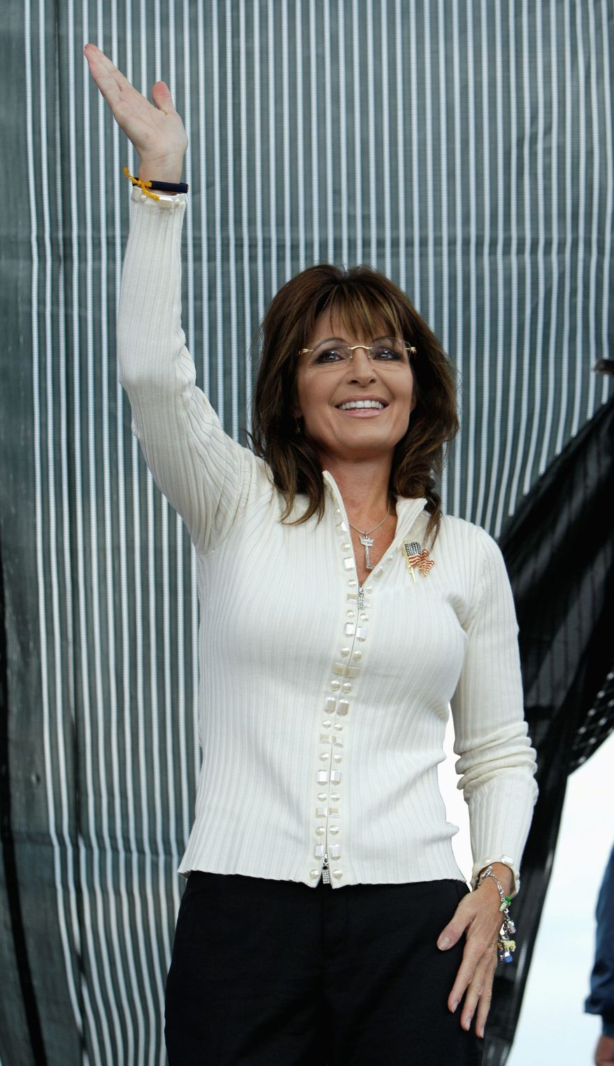 Former Alaska Gov. Sarah Palin is one of 32 names on a Republican National Committee presidential straw poll. (ASSOCIATED PRESS)