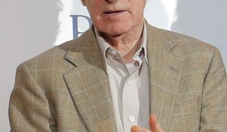 "FILE - This Aug. 27, 2013 file photo shows director and actor Woody Allen at the French premiere of ""Blue Jasmine,"" in Paris. Allen is again denying he molested adoptive daughter Dylan Farrow and is calling ex-partner Mia Farrow vindictive, spiteful and malevolent in an open-letter published online Friday, Feb. 7, 2014 by The New York Times. (AP Photo/Christophe Ena, File)"