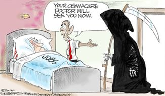 Your Obamacare doctor will see you now. (Illustration by Dana Summers of the Tribune Media Services)