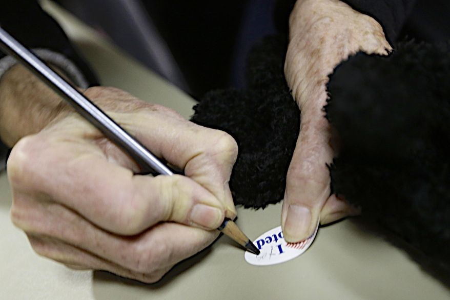 As many as 5.7 million noncitizens may have voted in the 2008 election, which put Barack Obama in the White House, according to research organization Just Facts, (Associated Press/File)