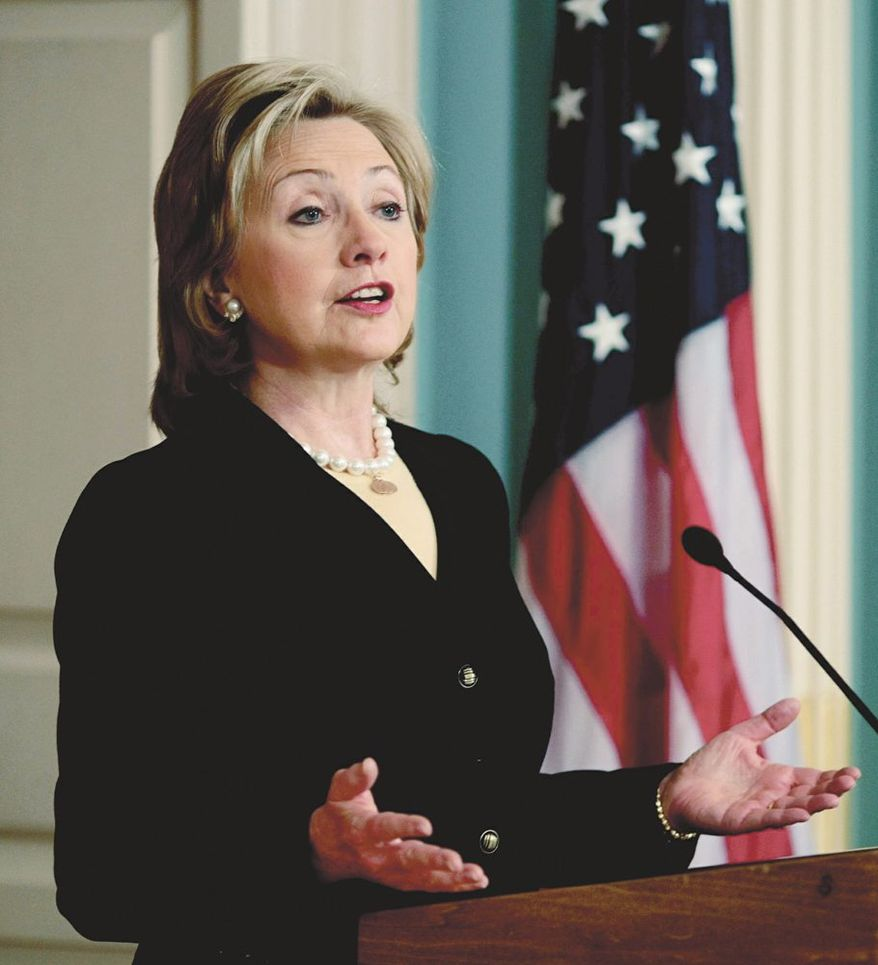Hillary Rodham Clinton, former secretary of state, was the subject of 173 minutes of coverage on Fox News, CNN and NBC from Feb. 3-9, according to a study released by Mediaite.com. (ASSOCIATED PRESS)
