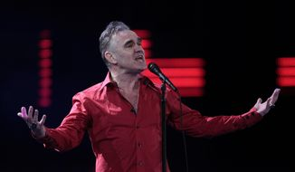British singer Morrissey performs at the 53rd annual Vina del Mar International Song Festival in Vina del Mar, Chile, Feb. 24, 2012. (AP Photo/Jorge Saenz) ** FILE **