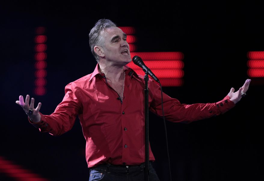 British singer Morrissey performs at the 53rd annual Vina del Mar International Song Festival in Vina del Mar, Chile, Feb. 24, 2012. (AP Photo/Jorge Saenz) ** FILE **