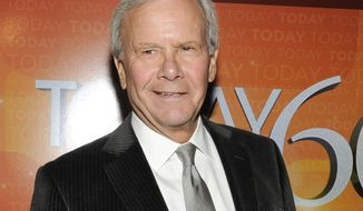 """**FILE** - This Jan. 12, 2012 file photo shows NBC News special correspondent and former """"Today"""" show host Tom Brokaw attending the """"Today"""" show 60th anniversary celebration at the Edison Ballroom in New York. (AP Photo/Evan Agostini, file)"""