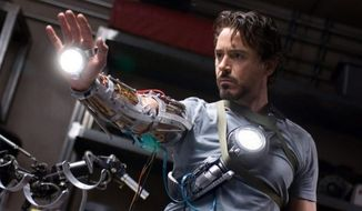 "Robert Downey Jr. stars as billionaire industrialist Tony Stark in the ""Iron Man"" Marvel movie franchise. (Associated Press)"