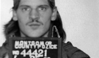 Montgomery County Police mugshot of Lloyd Welch from 1977. Welch was arrested for a residential burglary near Wheaton Plaza.