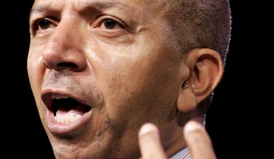 Anthony A. Williams, mayor of Washington, D.C., speaks during the 97th Annual Convention of the NAACP, Sunday, July 16, 2006, in Washington. (AP Photo/Haraz N. Ghanbari)