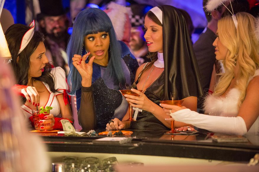 """This image released by Sony Pictures shows Regina Hall, second left, in a scene from """"About Last Night."""" (AP Photo/Sony Pictures, Matt Kennedy)"""