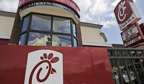 A Chick-fil-A fast food restaurant in Atlanta is seen here on July 19, 2012. (Associated Press, File)