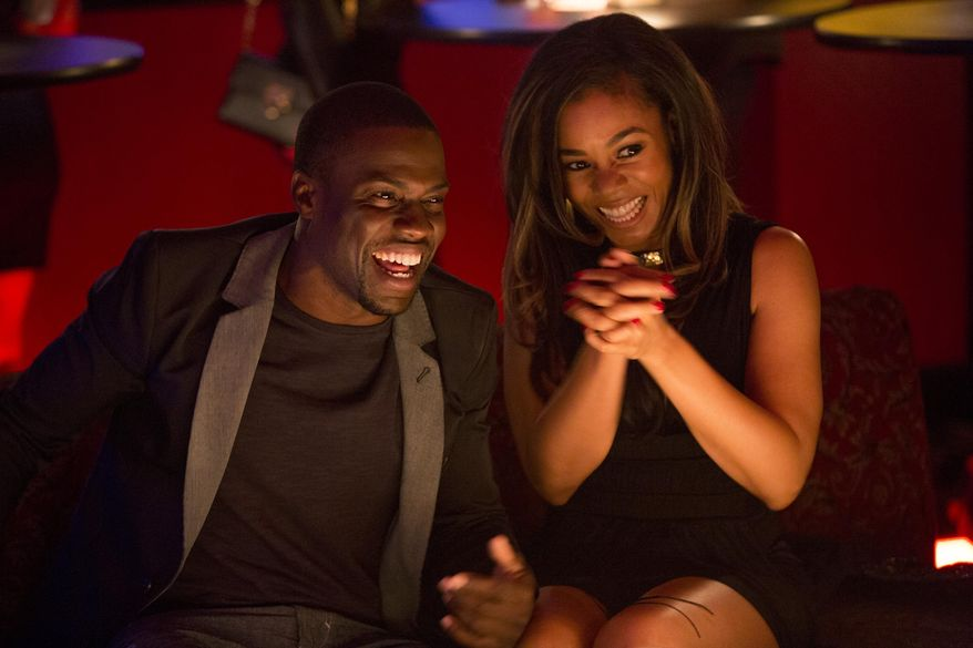"""This image released by Sony Pictures shows Kevin Hart, left, and Regina Hall in a scene from """"About Last Night."""" (AP Photo/Sony Pictures, Matt Kennedy)"""