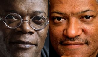 "This combination of 2012 and 2008 file photos shows actors Samuel L. Jackson and Laurence Fishburne. A Los Angeles newscaster apologized to Samuel L. Jackson for confusing him with fellow actor Laurence Fishburne during a live TV interview on Monday, Feb. 10, 2014. Thomas Busey, an Indiana University psychology professor who studies face recognition, says, ""There's a phenomenon called the 'other race effect,' where people in general have a tendency to confuse or fail to correctly name individuals of other races."" (AP Photo/Invision, Victoria Will; Kathy Willens)"
