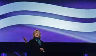 Former Secretary of State Hillary Rodham Clinton is miles ahead of any presidential opponent, whether Republican or Democrat, polls show. (Associated Press)
