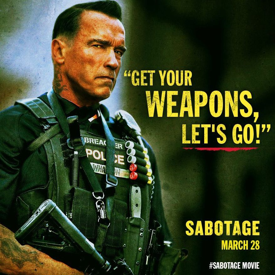 """Arnold Schwarzenegger's new action thriller """"Sabotage"""" open in March. But next week, he's out to battle political gridlock with the help of 10 assorted experts. (arnold schwarzenegger)"""