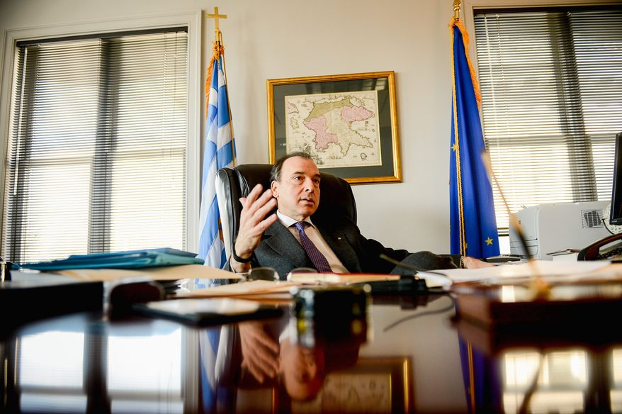 """For the very first time, we have learned to live with what we have,"" Greek Ambassador Christos P. Panagopoulos said. (Andrew Harnik/The Washington Times)"